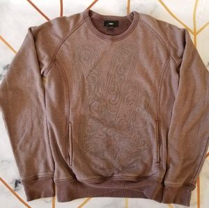 OBEY Paisley Peace Hand Crewneck Pullover Sweater